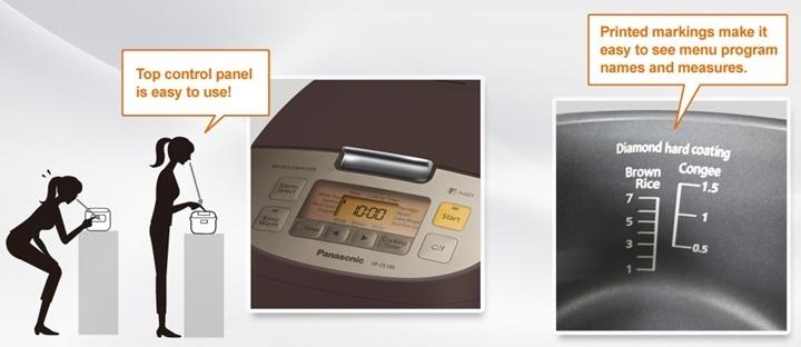 Panasonic หม้อหุงข้าวไมคอม รุ่น SR-ZS105