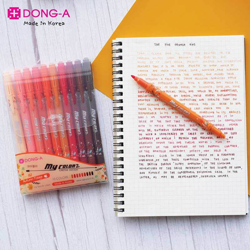 DONG-A mycolor2 Limited Edition ปากกาสีชุดเซ็ท 10 สี Autumn Foliage