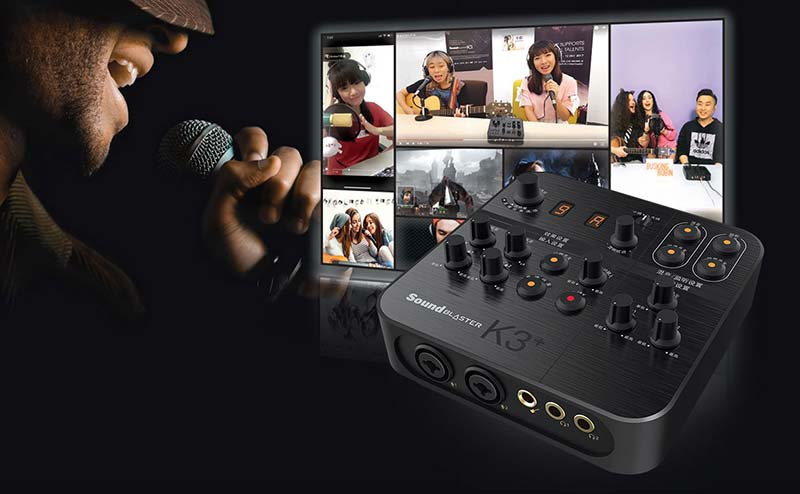 Creative K3+ Plus External Sound Card Blaster