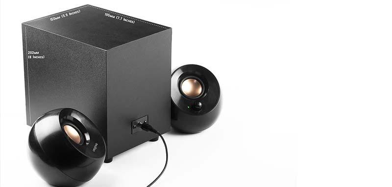 Creative Pebble 2.1 Desktop Speaker USB Port Black
