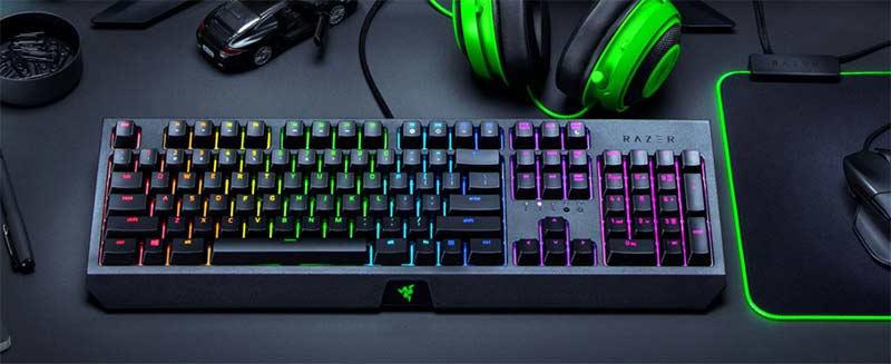 Razer คีย์บอร์ดเกม Blackwidow Green Switch [Thai]