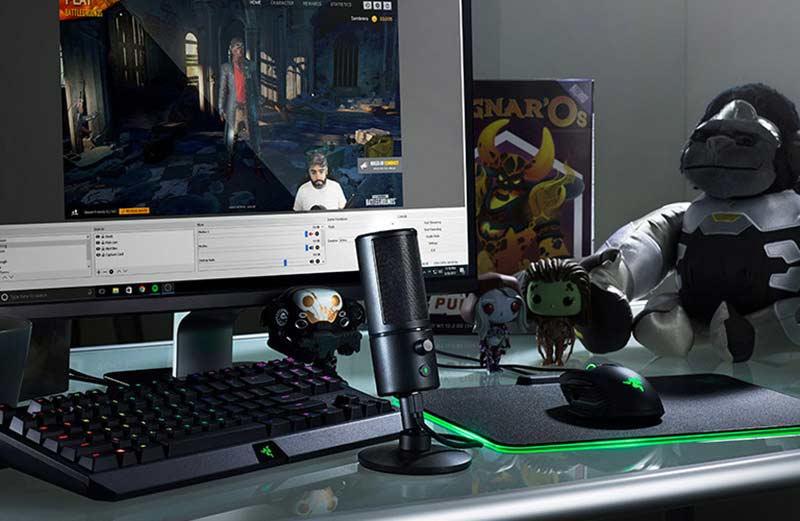 Razer ไมโครโฟนเกม Seiren X Quartz Edition