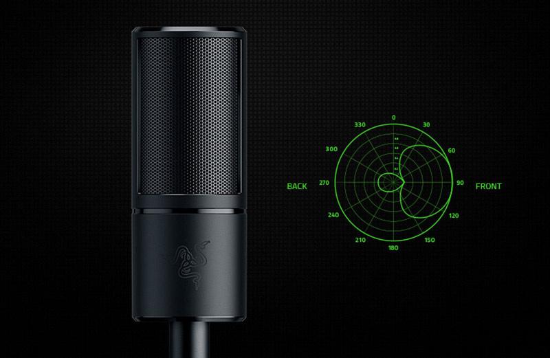 Razer ไมโครโฟนเกม Seiren X - Condenser Streaming