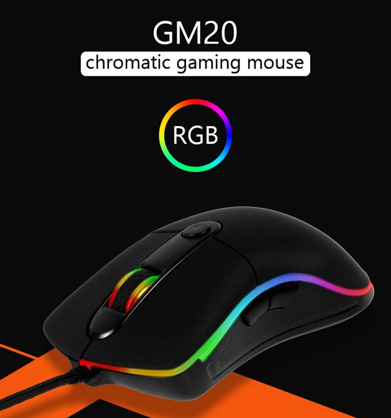 Meetion เม้าส์เกม Chromatic Gaming Mouse GM20