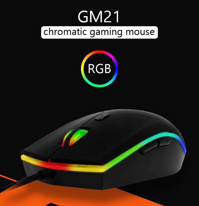 Meetion เม้าส์เกม Polychrome Gaming Mouse GM21
