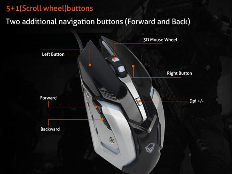 Meetion เม้าส์เกม Cheap PC Backlit Gamer Mouse M915