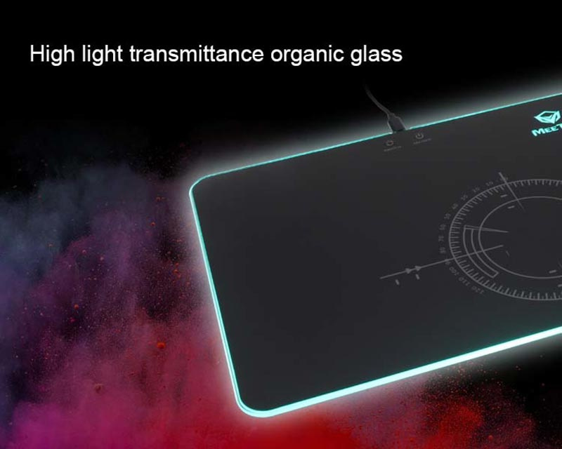 Meetion แผ่นรองเม้าส์เกม Glowing RGB LED Backlit Gaming Mouse Pad P010