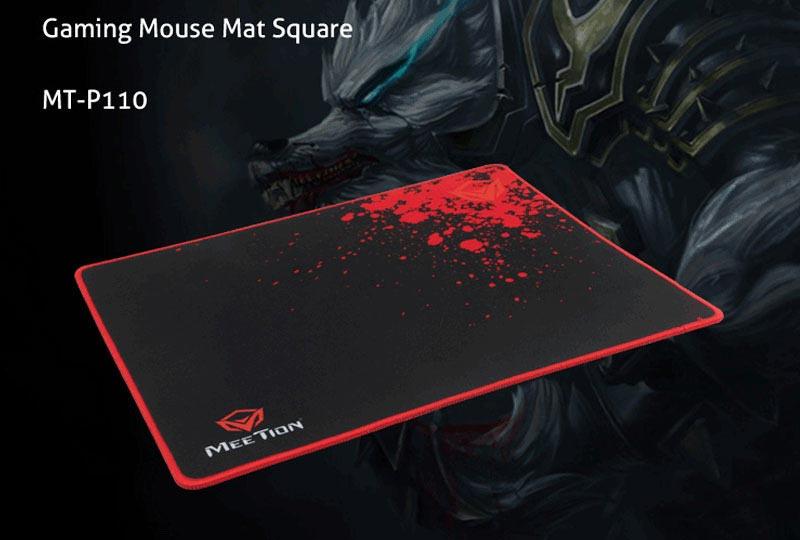Meetion แผ่นรองเม้าส์เกม Non-slip Rubber Square Mouse Pad P110