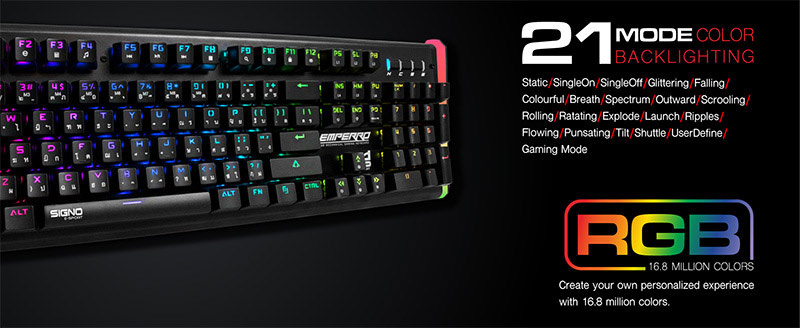 SIGNO E-Sport คีย์บอร์ดเกม KB-770