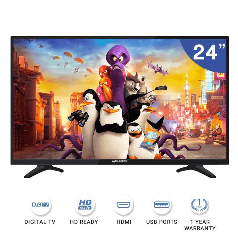 Worldtech Digital LED TV HD Ready ขนาด 24 นิ้ว รุ่น WTTVDG24HDR210000