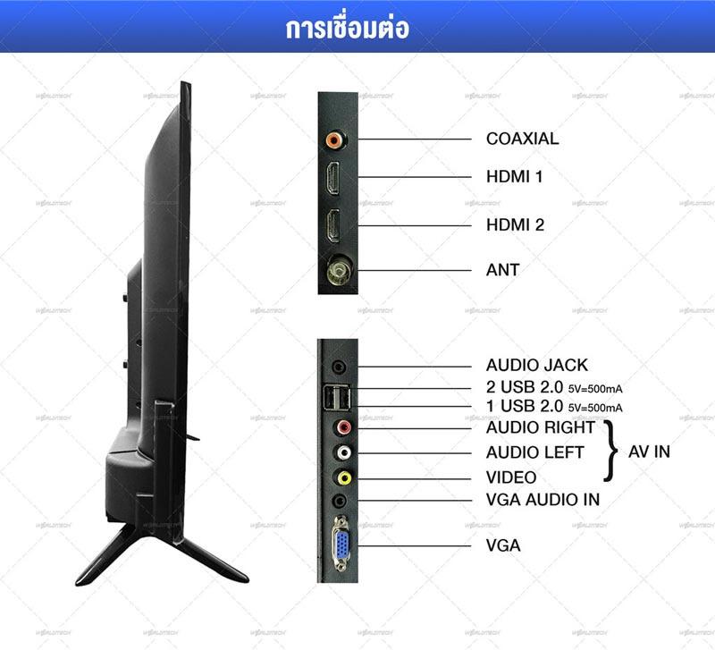 Worldtech Analog LED TV HD Ready ขนาด 32 นิ้ว + Android TV Box รุ่น WTTVAL32HDR2200ADA