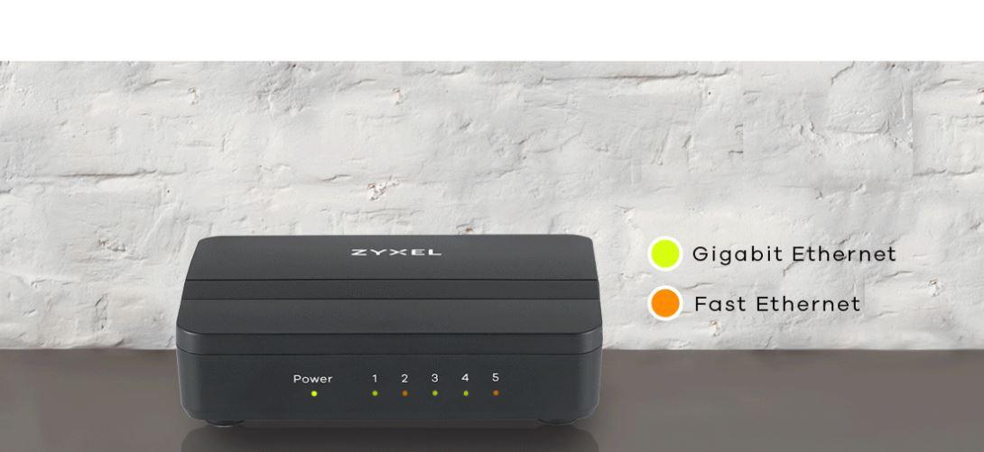 Zyxel GS-105S v2 5-Port Desktop Gigabit Ethernet Media Switch 04