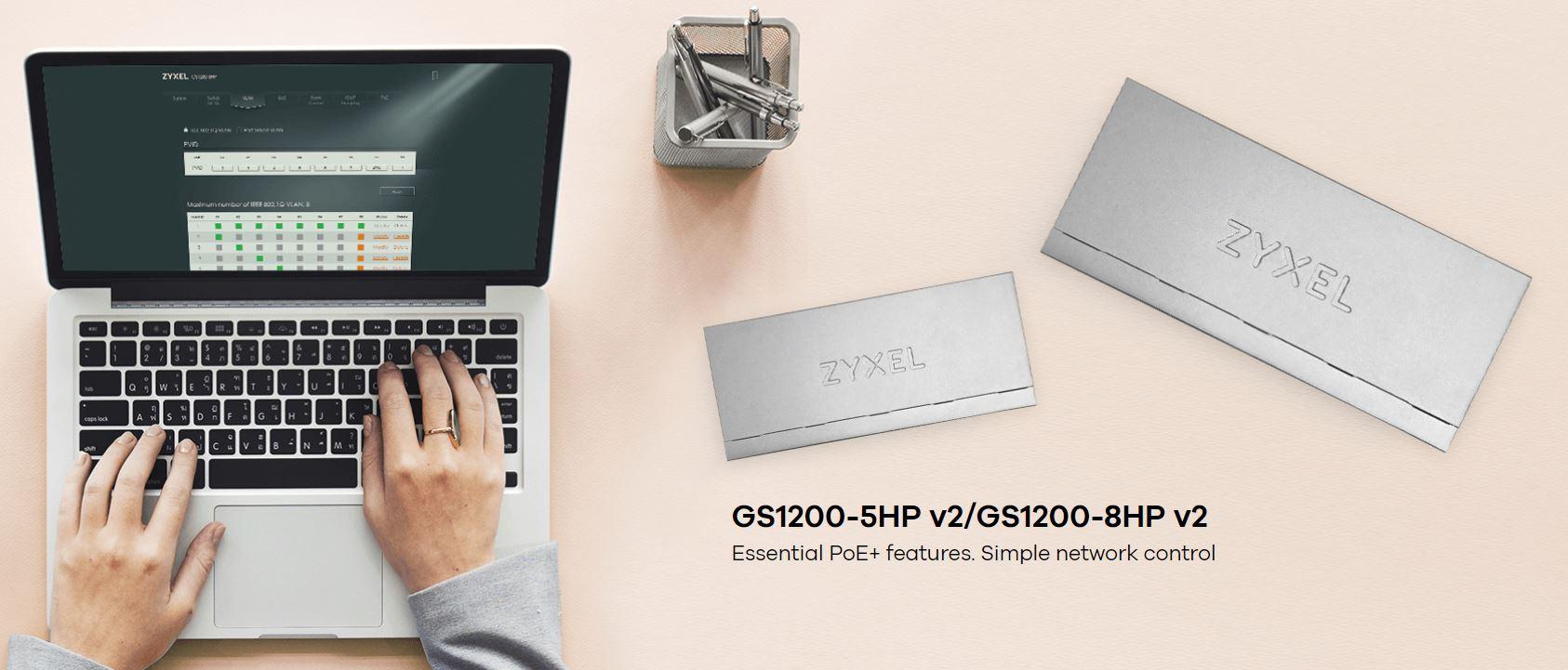 Zyxel GS1200-5HP v2 5-Port Web Managed PoE Gigabit Switch