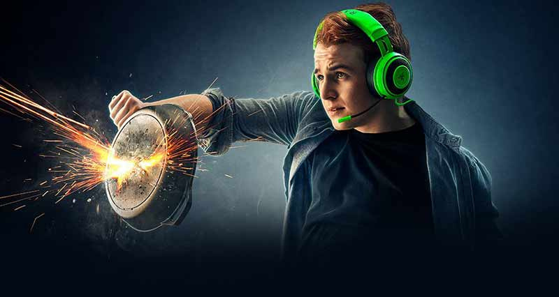 Razer Gaming Headset Kraken Black Tournament 02