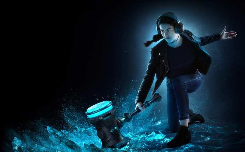 Razer Gaming Headset Kraken Black Tournament 08