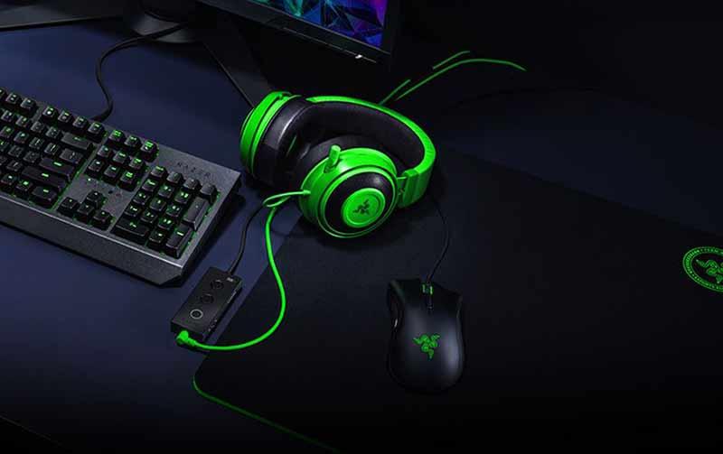 Razer Gaming Headset Kraken Black Tournament 10